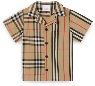 Burberry Kids Cotton Vintage Check and Icon Stripe Shirt (6-24 Months)