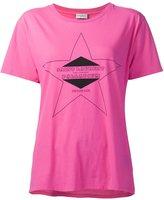 Saint Laurent logo print T-shirt - women - Cotton - M