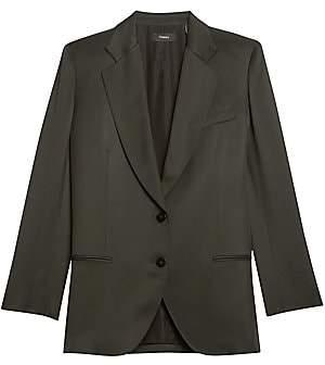 Theory Women's Sleek Twill Straight Blazer