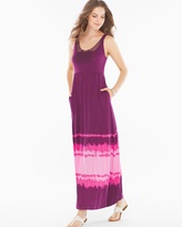 Soma Intimates Soutache Maxi Dress Retreat Border Henna Plum