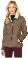 Lauren Ralph Lauren Quilted Blazer w/ Corduroy Trim/Berber (Guncheck Loden) Women's Clothing