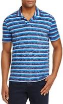 Michael Bastian Stripe Slub Slim Fit Polo Shirt