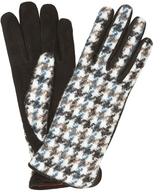 Loro Piana Suede-backed cashmere-blend gloves
