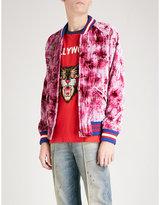 Gucci Ufo-appliquéd Crushed Velvet Bomber Jacket