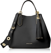 Michael Kors Brooklyn Large Black Pebbled Leather Tote