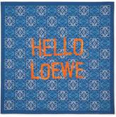 Loewe Printed Silk-twill Scarf - Blue