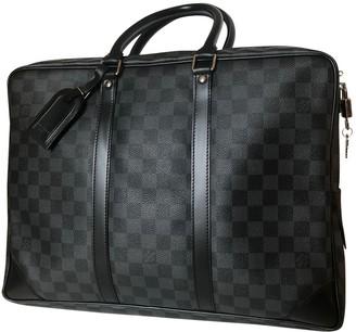 Louis Vuitton Porte Documents Voyage Anthracite Cloth Bags