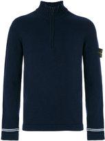 Stone Island zip collar jumper - men - Polyamide/Wool - S