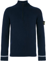 Stone Island zip collar jumper