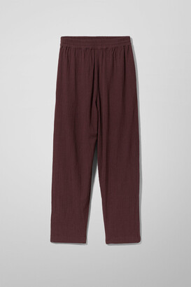 Weekday Barb Casual Trousers - Red