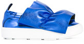 MSGM draped slip-on sneakers - women - Leather/rubber - 35