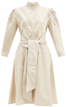 ÀCHEVAL PAMPA Yegua Cotton-blend Crepe Shirt Dress - Beige