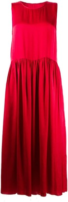 UMA WANG Gathered-Waist Satin Dress