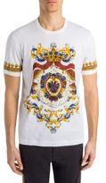 Dolce & Gabbana Crescent Print Cotton Tee