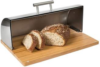 Honey-Can-Do Stainless Steel Bread Box & Bamboo Cutting Board
