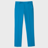 Paul Smith Men's Slim-Fit Turquoise Wool 'A Suit To Travel In' Trousers