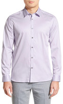 Ted Baker Modern Slim Fit Plancuf Stretch Long Sleeve Sport Shirt