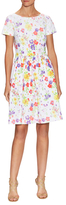 Oscar de la Renta Cotton Floral Print Fit And Flare Dress