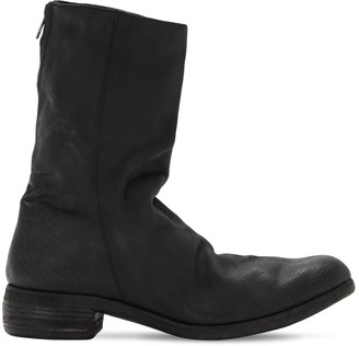 A Diciannoveventitre Handmade Leather Double Zip Boots