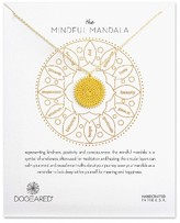 Dogeared Women's The Mindful Mandala Pendant Necklace