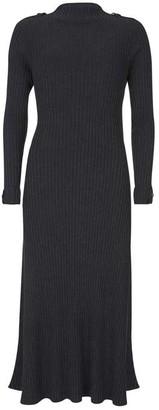 Mint Velvet Grey Ribbed Column Midi Dress