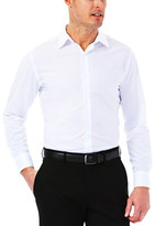 Haggar Windowpane Dress Shirt - Slim Fit, Point Collar