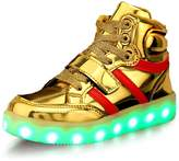 sexphd USB Charging LED Kids Shoes Light Up High Top Fashion Sneaker ( 12)