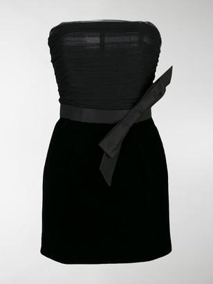 Saint Laurent Velvet Bustier Dress