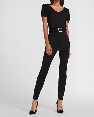 Express Super High Waisted Embellished Belt Skinny Pant