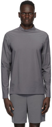 JACQUES Grey Performance Mock Neck T-Shirt