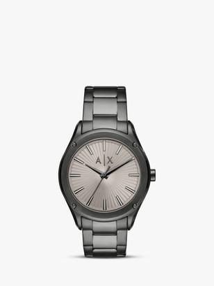 Armani Exchange AX2807 Men's Bracelet Strap Watch, Gunmetal/Grey