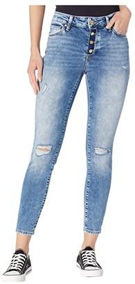 Mavi Jeans Tess High-Rise Ankle Skinny in Used Ripped Vintage (Used Ripped Vintage) Women's Jeans