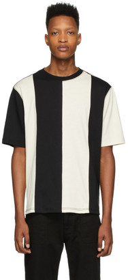Ami Alexandre Mattiussi Black and Off-White Bi-Colour T-Shirt
