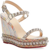 Christian Louboutin Pira Ryad 110 Red Sole Wedge Sandals