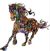 Madaye Pattern horse living room sofa personality name environmental background wall stickers