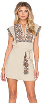 Free People Running Wild Embroidered Dress