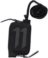 11 By Boris Bidjan Saberi logo zip wallet with lanyard