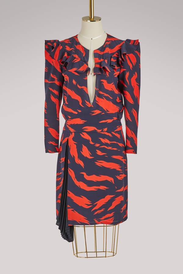 Givenchy Tiger short dress with long sleeves