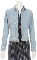 L'Agence Celine Slim Fit Denim Jacket
