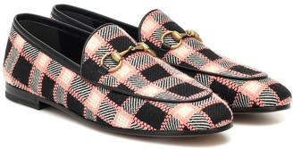 Gucci Jordaan checked tweed loafers