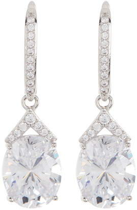 Nadri Beloved Oval CZ Drop Earrings