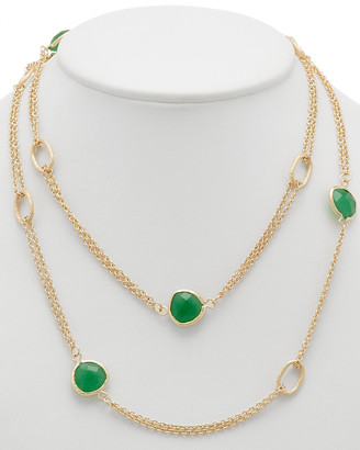 Rivka Friedman 18K Clad Quartzite 38In Necklace
