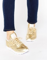 Reebok Classic Gold Leather Spirit Sneakers