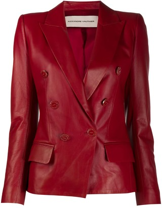 Alexandre Vauthier Fitted Lambskin Jacket