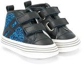Hogan contrast trainers - kids - Cotton/Leather/rubber - 16