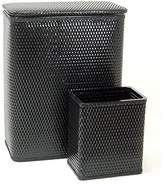 Redmon 4262BK Chelsea Collection Full Size Hamper And Matching Wastebasket Set