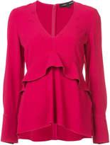 Proenza Schouler V-neck ruffle blouse
