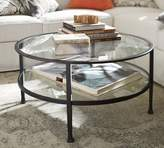 Pottery Barn Tanner Round Coffee Table , Matte Iron-Bronze finish