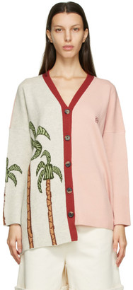 Loewe Pink and Grey Ken Price Edition La Palme Cardigan