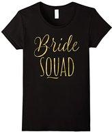 Women's Bride Squad Bachelorette Party Shirts Script Medium